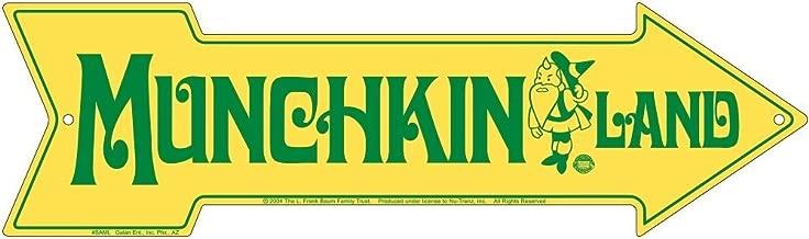 Signs4Fun (Former Galan) Wizard of Oz Tin Sign Munchkin Land Arrow
