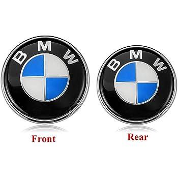 Xotic Tech 1x Ultra Blue Color 82mm Trunk Hood Emblem Round LED Illuminated Emblem Background Light Lighting Kit For BMW 3 4 5 6 7 X M Z Series X3 X5 X6