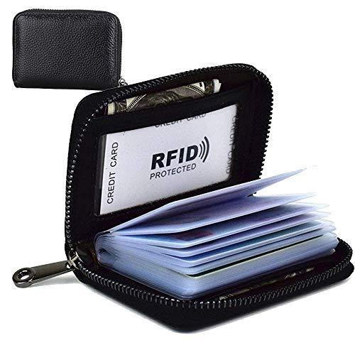 カードケース 大容量 革 カード入れ 磁気防止 スキミング防止 メンズ レディース クレジットカードホルダー ジッパー式 カードケース 大容量 カード入れ シンプル メンズ レディース ポイントカード・名刺・社員証・名札・カード収納・小銭入れ 防磁 スキミング防止 ブラック