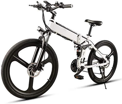 Bici electrica, 26 en bicicleta eléctrica plegable 350W for adultos Montaña E-bici con 48V10AH extraíble de iones de litio, aleación de aluminio de doble suspensión de bicicleta Velocidad máxima 35 km