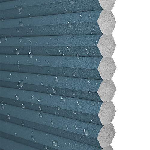 Ababy Estores Enrollable Tamaño Opcional (Ancho 50-90, Alto 60-180), Cortina de Nido de Abeja sin taladrar, cálida y cómoda, Azul oscuroW700mmxH900mm