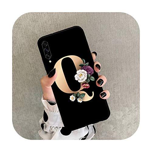 Moda nombre personalizado letra flor teléfono caso para Samsung Galaxy A 3 6 7 8 10 21 01 11 31 91 10S 20S 30S 50S PLUS-a6-para A30S A50S