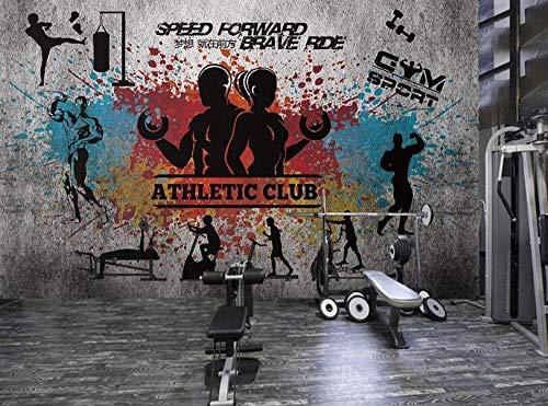 Fototapete Fitness Bodybuilding Fototapete Fitnessraum Dekoration Hintergrund Wand Foto-300×210Cm