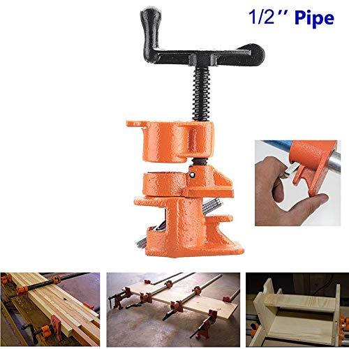 Domeilleur - Juego de abrazaderas para tuberías de carpintero (hierro fundido, 1,27...