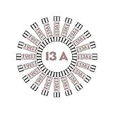 Tech Traders 13AMP-Fuse domésticos Plug Top Hogar Red 13A Cartucho Fusible, Negro, Set de 100 Piezas