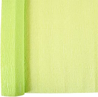 Just Artifacts Premium Crepe Paper Roll - 8ft Length/20in Width (Color: Key Lime)