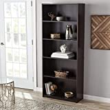 Mainstay` Orion Wide Bookcase (Espresso, 5-Shelf Standard)