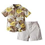 Rumity Kinder Junge Kleidung Anzug Baby Cartoon Druck Kurzarm T-Shirt + Shorts Zweiteilige Kindertagesgeschenk Für Babys von 1-4 Jahren