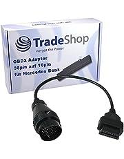 Trade-Shop OBD OBD2 Diagnose adapterkabel voor Mercedes Benz 38 pins aansluiting, extra dikke kabel, hoogwaardige afwerking en kwaliteit