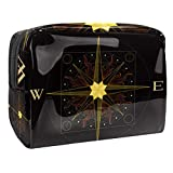 Ocean Elements Anker-Kompass, 18,5 x 7,5 x 13 cm, PVC, für Make-up-Pinsel, Kulturbeutel, tragbar
