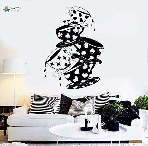 tzxdbh vinyl muur tale stijl cartoon kamerdecoratie wand zagen wandbehang 42X58cm