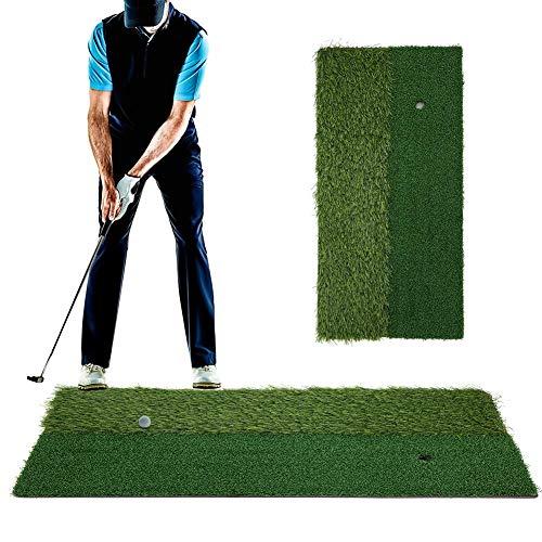 Golf Practice Mat,30x60CM PP Grass Golf Hitting Practice Pad Putting Mat Golf Turf Practice Mat Golf Hitting Pad for Indoor Outdoor Backyard Using