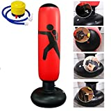UEncounter Inflatable Boxing Punching Bag Stress Punch Tower Speed Bag Target Bag for Children Adult Tumbler Sandbag with Air Pump
