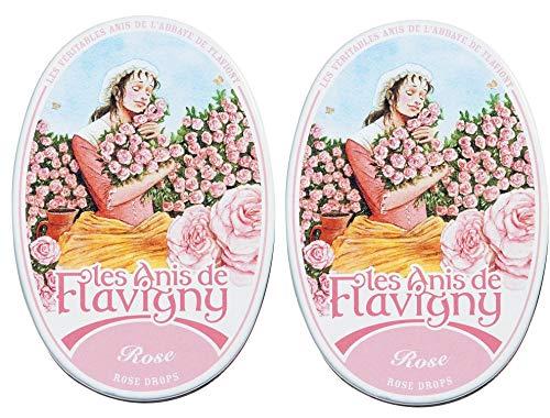 Les Anis de Flavigny - Anisbonbons - Rosendragees - 2er Pack