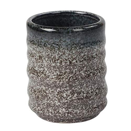 F Fityle Taza de Té de Cerámica Hecha de Mano para Vino, Café, Agua, Bebidas Frías Calientes, Taza de Té, Taza de Té de Cerámica de Estilo Japonés - Zafiro, 6.5x7.8cm