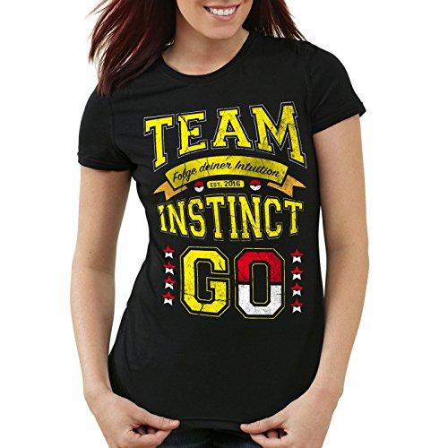 style3 Team Gelb Instinct Damen T-Shirt Intuition Instinkt, Größe:S