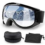 Migimi Skibrille OTG, Snowboard Brille Hochwertige Ski Schutzbrille, UV-Schutz Schneebrille Anti-Schwindel Anti-Fog Helmkompatible Augenschutz für Outdoor Aktivitäten Skifahren Radfahren Wandern