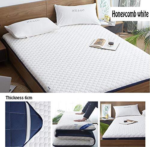 Memory Foam Mattress Single 3ft x 6ft2 (90x190cm) 3D Breathable Fabric Mattress with Original Thai Latex Mattress,A,120 * 200cm