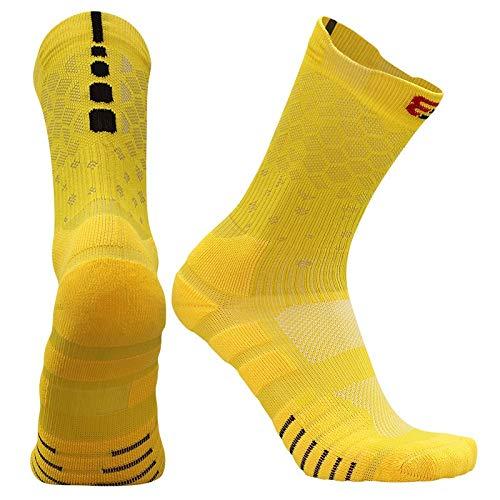 XiaoG Fußball Socken Neue Hohe Qualität Verdicken Elite Basketball Socken Radfahren, Baumwolltuch Boden Outdoor Sports Socken, Lauf Socken (Color : Style 6, Size : S EU 31 38)