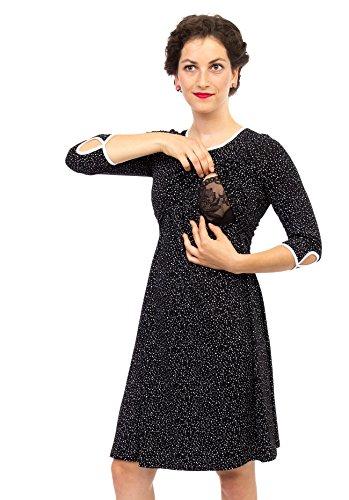 Viva la Mama I Umstandskleid festlich Stillkleid I Umstandsmode Schwangerschaft Damen I Schwangerschaftsmode Kleid Milla – schwarz - 5