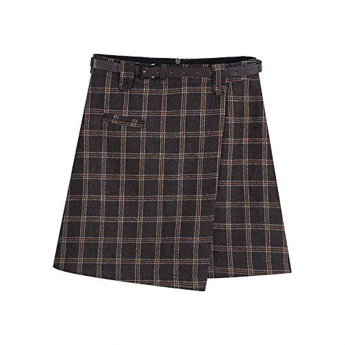 Hermosa Kilt Falda Escocesa Nueva Falda Corta De Mujer Linda Mini Falda Falda Escocesa A Cuadros Otoño E Invierno Estudi