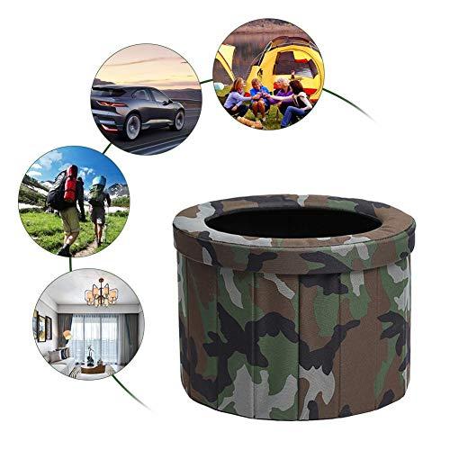 Camping Toilet, tragbare Toilette zusammenklappbare Reise Töpfchen Kommode Toilettensitz, Außentoilette Notfalltoilette für Camping und Wandern Fernreisen