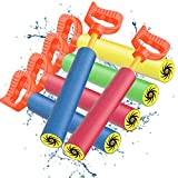 Heysplash Water Soaker Blaster, [6 Pack] Foam Water Spurt Shooters Water Cannon, Summer Fun Pool Game Toys Swimming Pool Outdoor Beach Yard Water Park Water Party Games Toys for Kids, Toddlers, Adults
