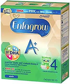 Enfamil Enfagrow Milk Powder A+ 360 Mind Plus 4,Stage4 -Plain Flavored(19.4 Oz/550g)Appropriate for over 3 years and All the family,Give your baby the nutrients fully every day