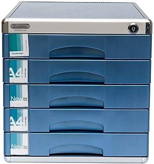 Nologo SH-CHEN Desktop Drawer Sorter Lockable Aluminum Alloy Data Office Storage Drawer Confidentiality with Lock Office Desktop Drawer Organizer (Design : 5-Layers) File Cabinets