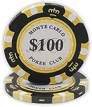 Da Vinci 14 Gram Clay Monte Carlo Poker Club Premium Quality Poker Chips Pack of 50 Chips