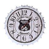 LEIHALA Reloj de Pared con Tapa de Botella 3D Grande de Metal Retro Vintage Relojes de Movimiento de Cuarzo silencioso