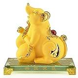 ZYYH Estatua de Feng Shui Rata del Zodiaco Chino Adorno geomántico Riqueza Estatua de Prosperidad Decoración del hogar Atraer Riqueza y Buena Suerte Decoración de Feng Shui Escultura de prosperid