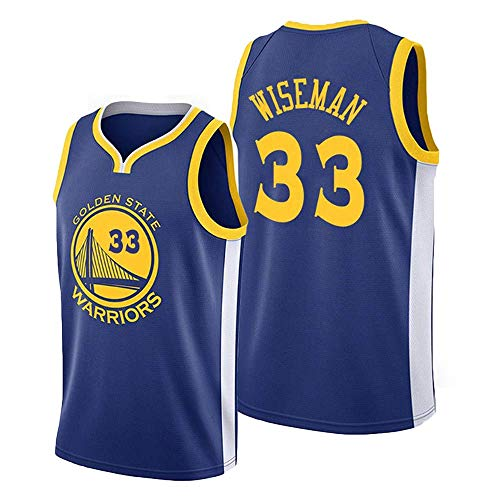 llp James Wiseman Basketball Jersey, 33# Warriors New Basketball Fan Jersey, Jerseys de GoldenState Transpirable Anti-Arrugas de Secado rápido, Limpieza repetible