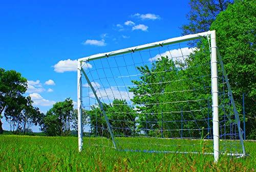 Netsportique Fußballtor für Kinder Fun - 3 Größen zur Auswahl - aus uPVC Klicksystem Zubehör und 100{6dcc758981d8b6d6fa3432dc37a1a693e0376382edcabadcb3ac1ae44c398c08} WETTERFEST (1,8 x 1,2m)