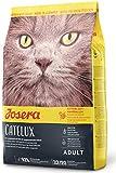 JOSERA Catelux (1 x 400 g) | Katzenfutter mit Anti-Haarballen-Effekt | Super Premium Trockenfutter für ausgewachsene Katzen | 1er Pack