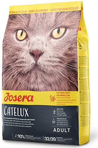 JOSERA Catelux (1 x 2 kg) | Katzenfutter mit Anti-Haarballen-Effekt | Super Premium Trockenfutter für ausgewachsene Katzen | 1er Pack