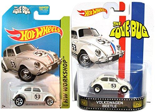 Hot Wheels Herbie The Love Bug Volkswagen #53 Disney Retro Entertainment Set Disney Movie Replica All-Stars car Set Awesome Variations 2014