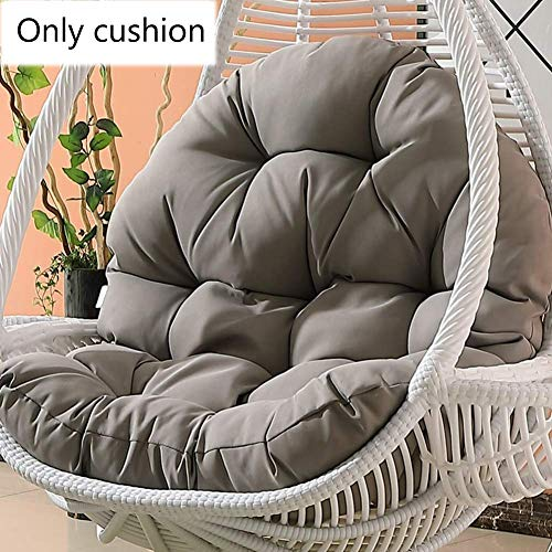 Tina S Wicker Rattan Hanging Egg Chair Pads Non Slip Soft Swing Chair Cushion Without Stand Indoor Balcony Pad Garden Gray 120x86x15cm 47x34x6inch Buy Online In Albania At Desertcart