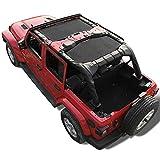 Shadeidea Sun Shade for Jeep Wrangler JL Unlimited 4 Door, Front and Rear 2 piece-Black Mesh Screen Sunshade JLU,...