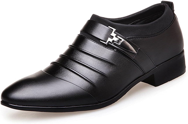 JIALUN-Schuhe Mode Herren Business Schuhe Glatt Pu-Leder Splice Oberen Oberen Oberen Slip-on Breathable Gefüttert Oxfords (Farbe   Schwarz, Größe   CN25.5)  69a6aa