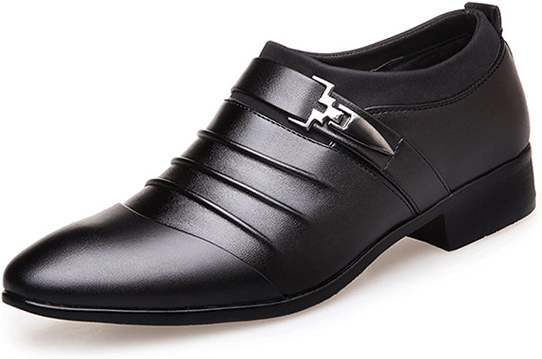 MXL Herren Business-Schuhe Glatte PU-Leder Splice Obermaterial Slip-On Atmungsaktiv Gefüttert Oxfords  | Stabile Qualität