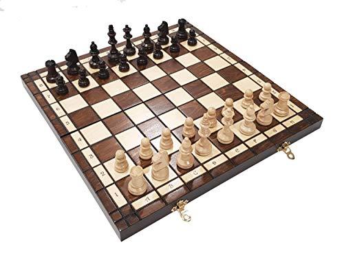 Choice Toys, Tournoi Artisanal 76 Jeu d'échecs en Bois, 39 cm x 39 cm