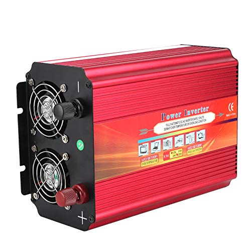 Xndz Inversor de Corriente USB, práctico LCD de 5000 W para vehículos, Apto para Uso en Exteriores, para emergencias Familiares(AC220V)