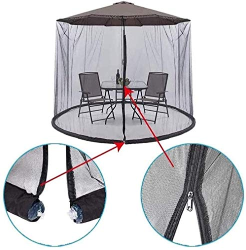 Neta al aire libre del mosquito Mosquitera for la sombrilla, la pantalla jardín al aire libre Paraguas Paraguas Tabla Mosquiteros paraguas Tabla patio de pantalla de malla paraguas Mosquitero paraguas