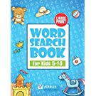 Word Search Book for Kids 5-10: Large Print Activity Book with Word Search Puzzles for Children and Beginners
