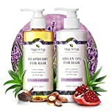 Gentle Argan Oil Shampoo & Conditioner by Tree to Tub—pH 5.5 Balanced Moisturizing Duo with Wild...
