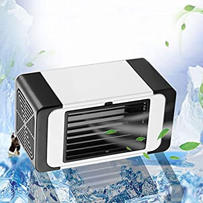 Watopi Mini Air Cooler, Air Condition 2 More Cooling Efficiency than Others, Portable Air Conditoner with Night Light, Adjustable Fan Speeds, for Night Sleep Room Office Car
