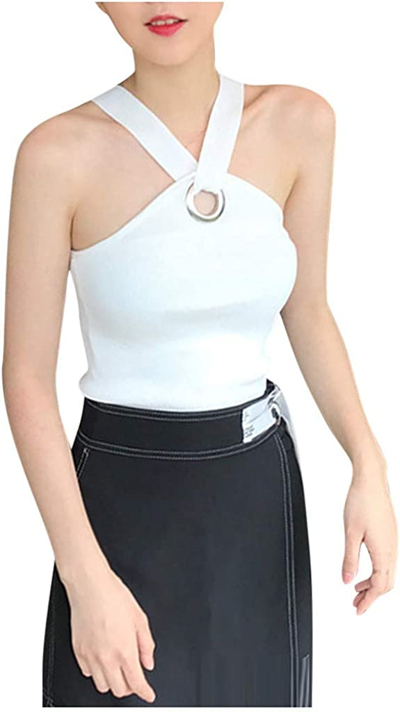 SERYU Fashion Women Summer Vest Sleeveless Camisole Resilience Tight Waist Blouse