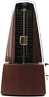 Traditional Triangle Mechanical Metronome with Bell, High Accuracy Tempo Range 40~208bpm for Musicians, Piano Players, by Bravodeal,Dark Teak