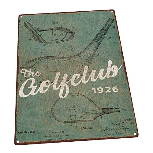 Golfclub United States Patent Green - Rustic Metal Sign Full Color Imprinted On Metal Signs Tin Plaque Aluminum Wall Poster for Garage Man Cave Cafe Bar Pub Club Decoration 12